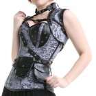 Corset Gris Multipoches