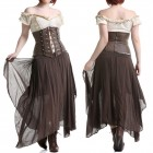 FALDA MARRON STEAMPUNK