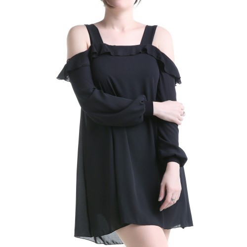 Robe en Tulle Manches Longues