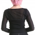 T-shirt Tulle Encolure Ronde