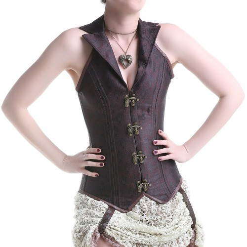 Corset Marron Long