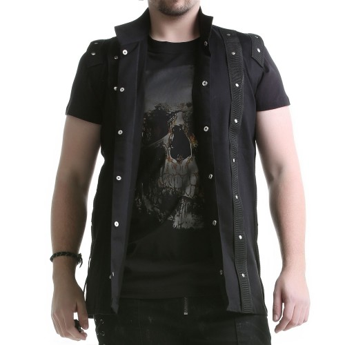 Gilet Homme Col Mao