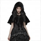 Black Fairy hooded bolero capa