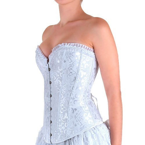 Corset Blaco Brocado